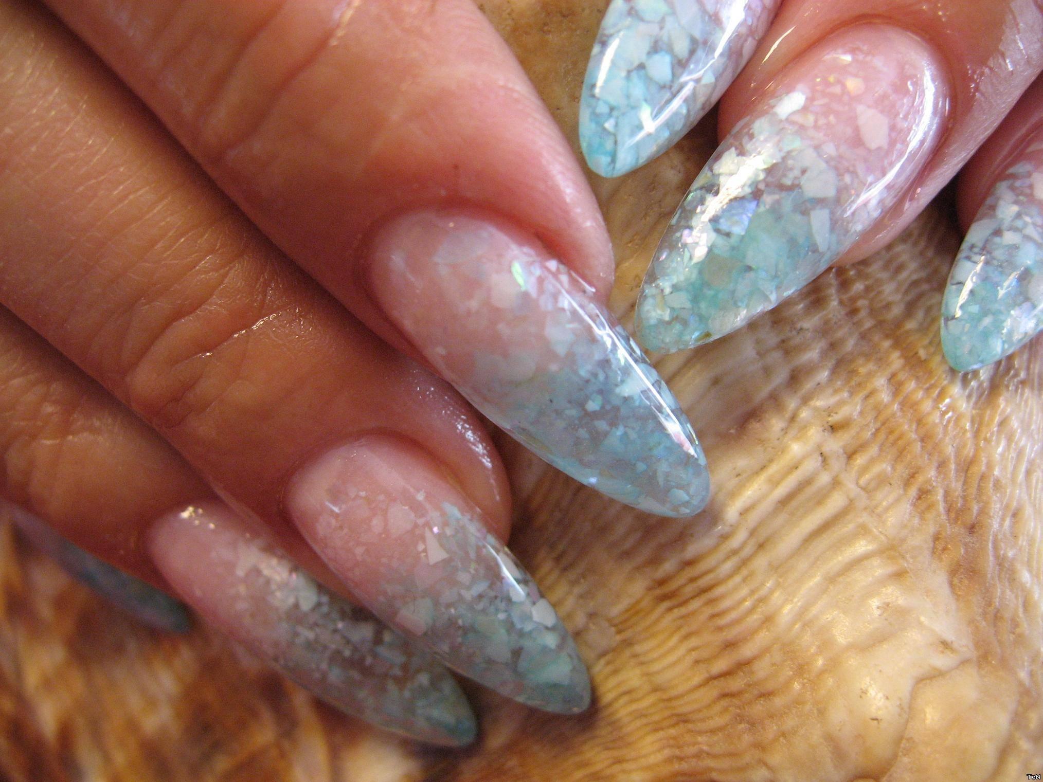 Дизайн ногтей ракушками фото